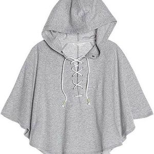 Victoria's Secret Beach Gray Hooded Poncho
